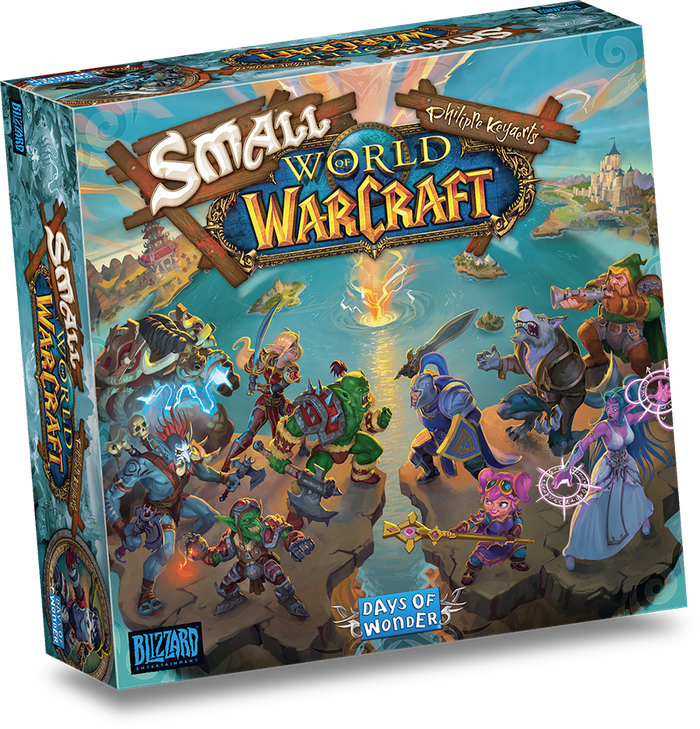 Image du jeu de société Small World of Warcraft par Blizzard Entertainment et Days of Wonder