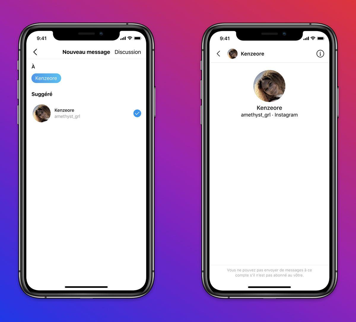 Des captures d'écran qui illustrent les nouvelles restrictions d'Instagram.