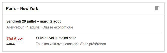 Google Search tourisme