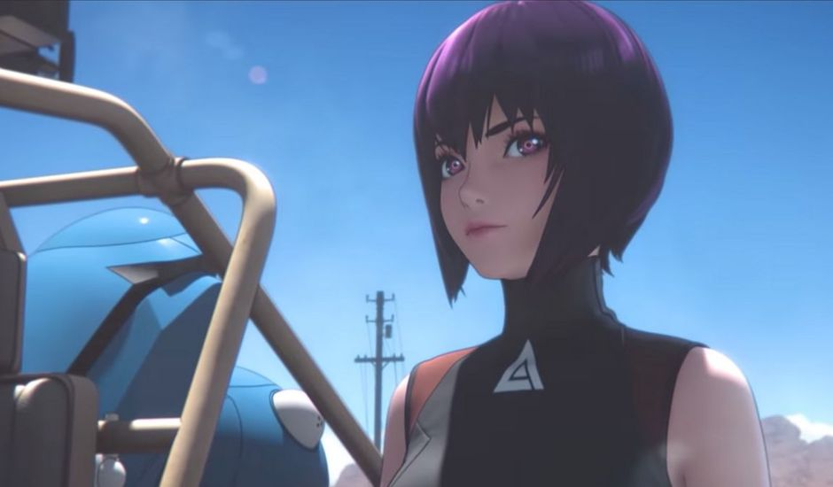teaser de l'anime netflix tiré du manga ghost in the shell