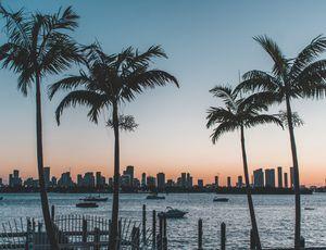 Coucher de soleil sur Miami en Floride