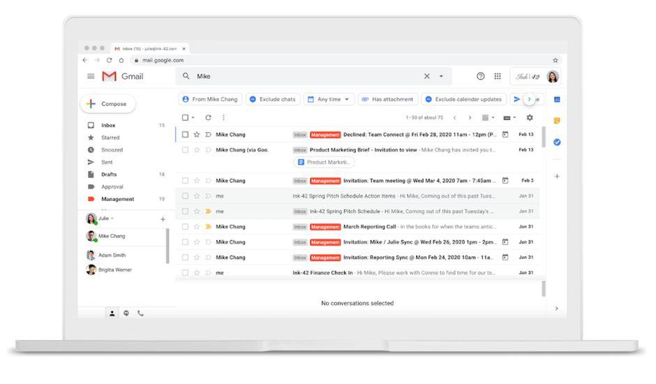 Google simplifie les recherches d'e-mails sur Gmail.
