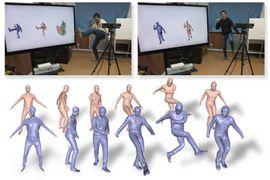 Améliorer la modélisation d'un corps en mouvement avec DoubleFusion.