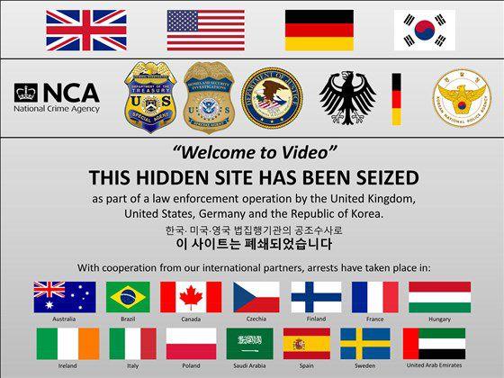 Cet avertissement a été posté sur Welcome to Video après sa saisie par les autorités américaines