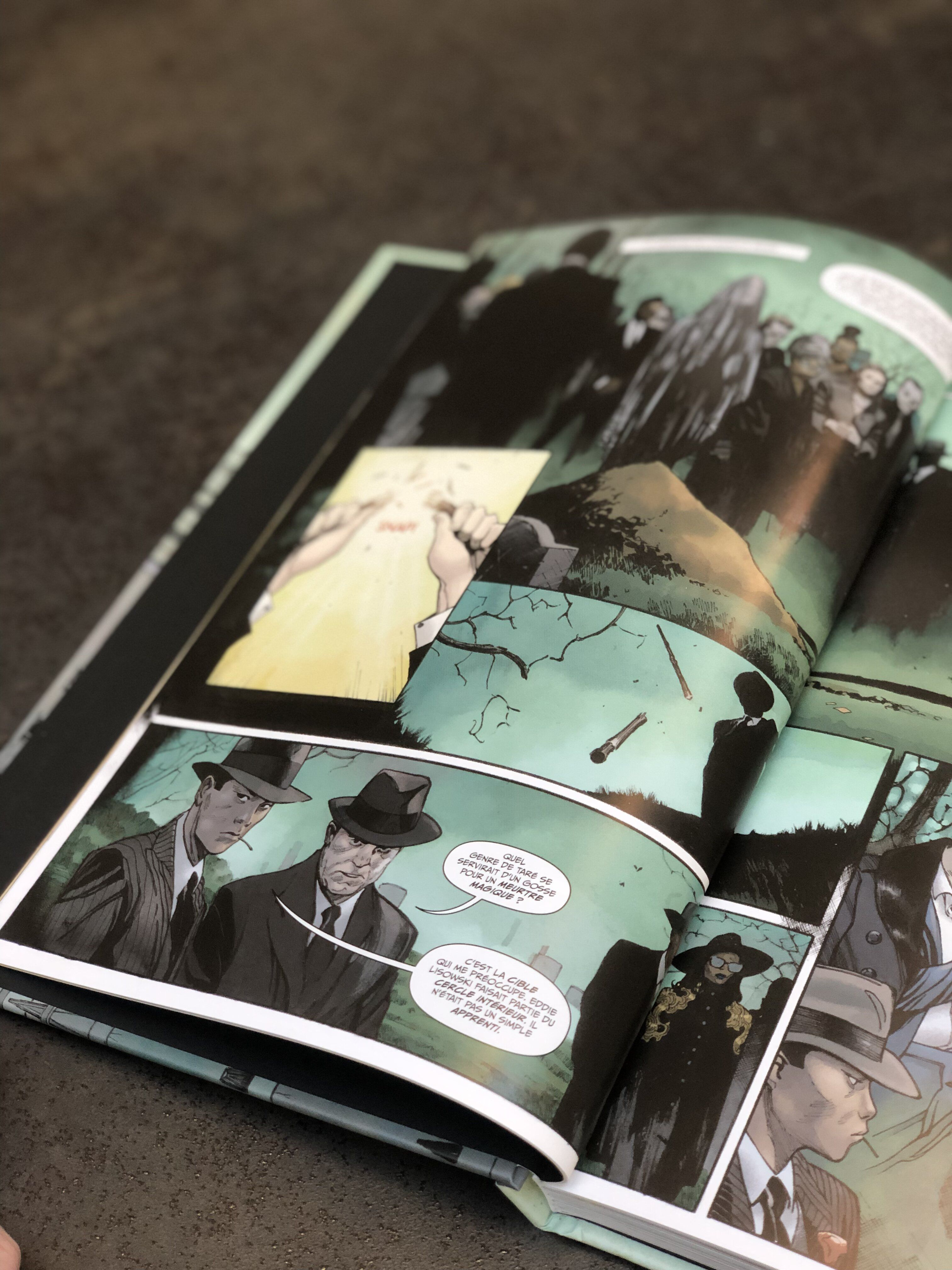 comics extrait the magic order enterrement