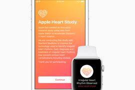Aperçu de l'application Apple Heart Study