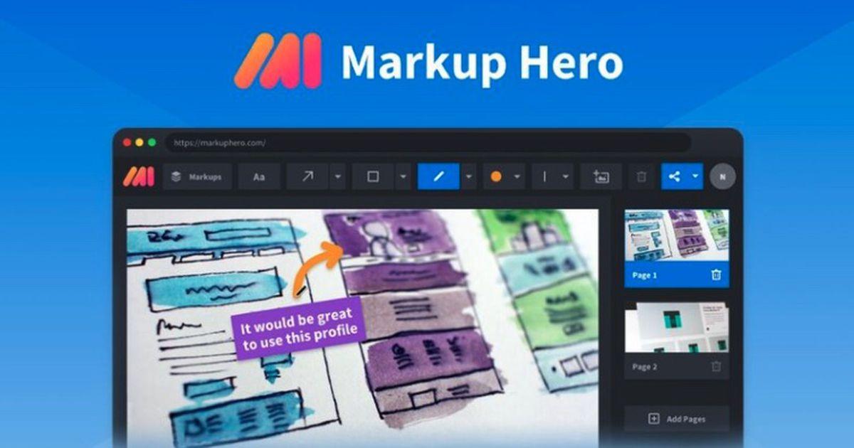 Markup Hero : un outil complet pour prendre des screenshots et annoter n'importe quel fichier