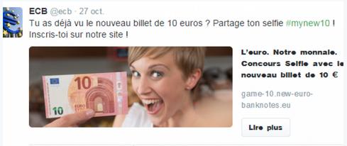 Le concours #mynew10 de la BCE