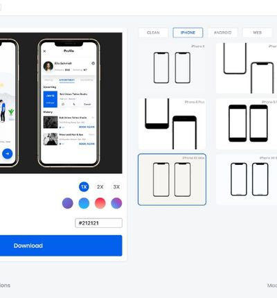 Mockups Iphone gratuit android outil en ligne