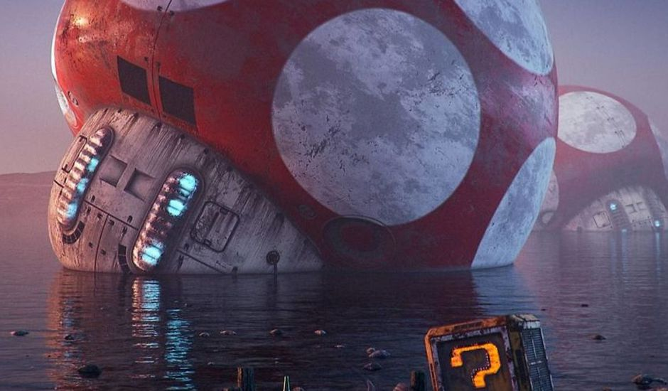 hoodass artworks pop culture apocalypse mario
