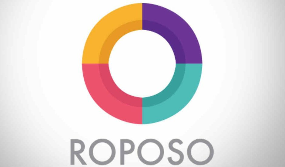 Le logo de l'application indienne Roposo.
