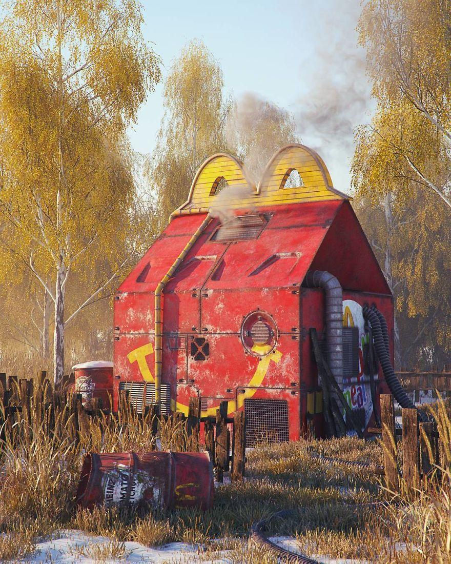 filip hodas artworks pop culture mcdonalds