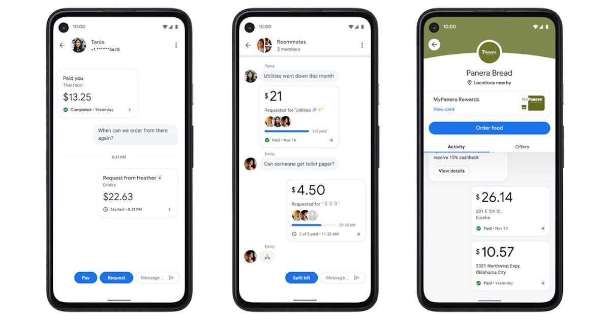 Google Pay - Captures d'écran de l'application