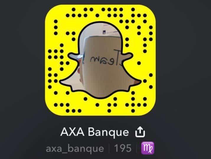 Snapchat Axa Banque