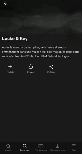 Locke and Key dans la liste d'attente de Netflix