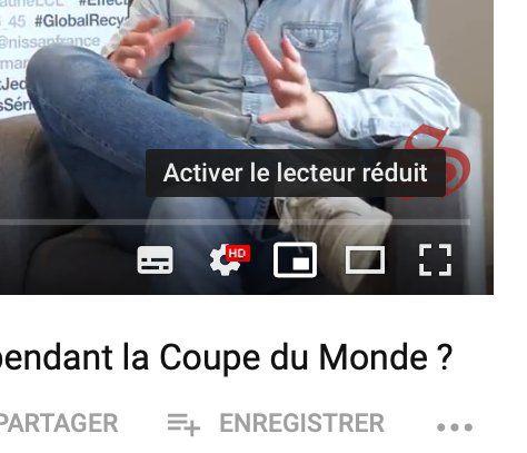 Lecteur reduit YouTube