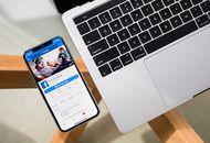 Page Facebook affichée sur un éléphone Apple
