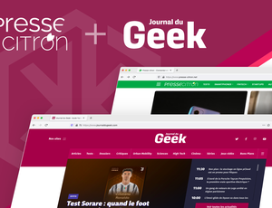 Illustration des sites de presse-citron et journal du geek