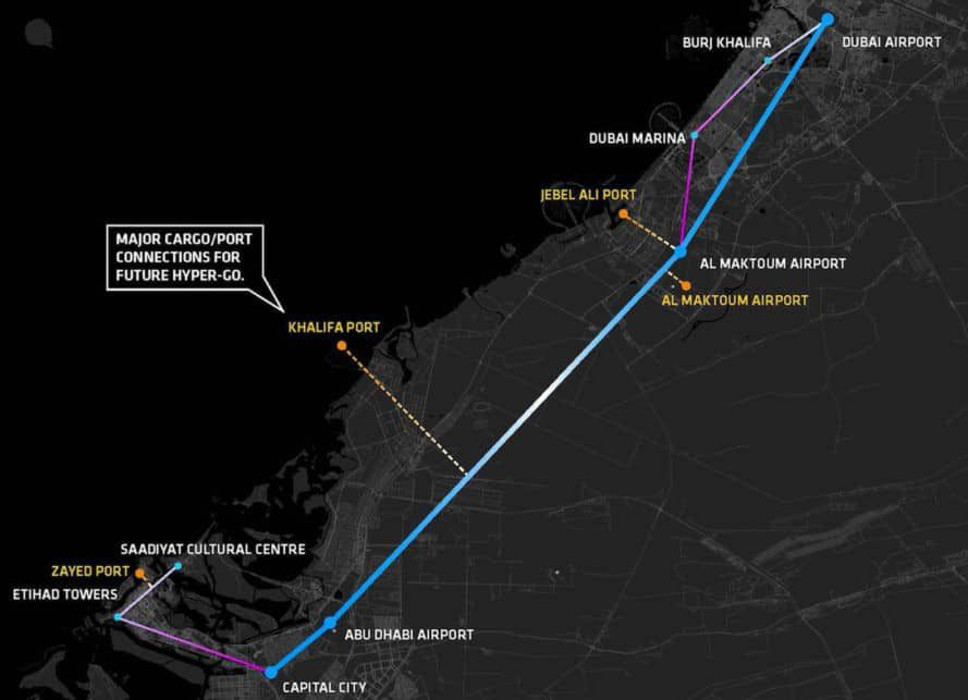 projet-hyperloop-uae-carte
