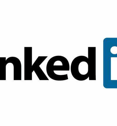 Le logo LinkedIn sur un fond blanc.