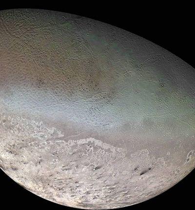 Aperçu de Triton, la lune de Neptune.