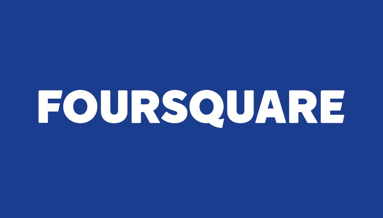 Le logo actuel de Foursquare changé en 2014