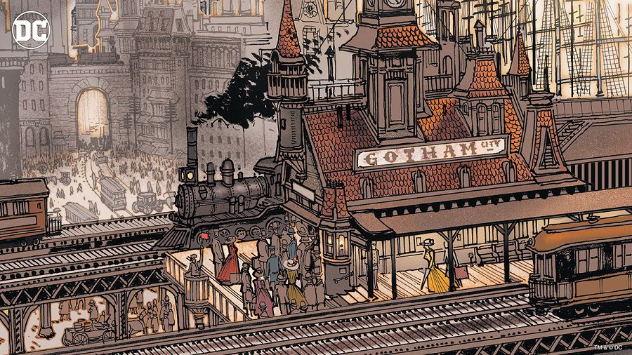 dc comics gotham city fonds virtuels