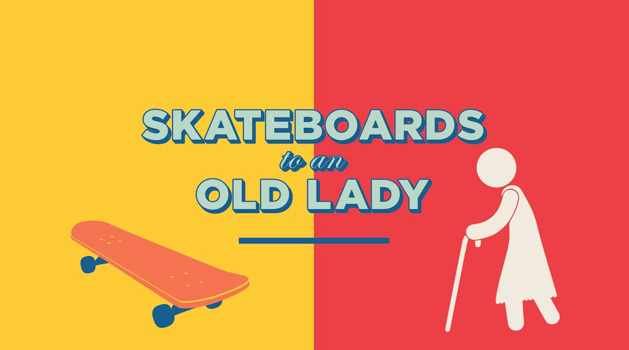 Avez vous déjà essayé de vendre un skateboard à une grand mère ?