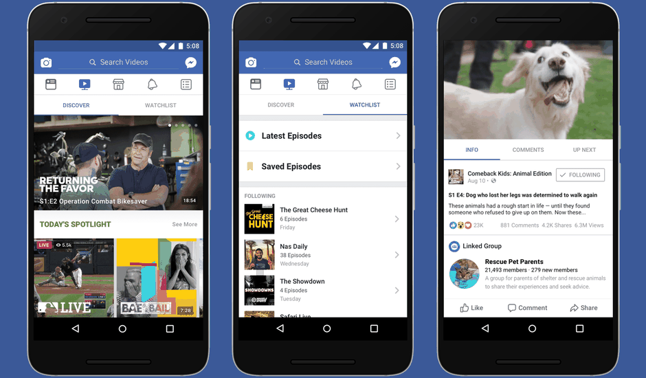 Facebook plateforme Watch