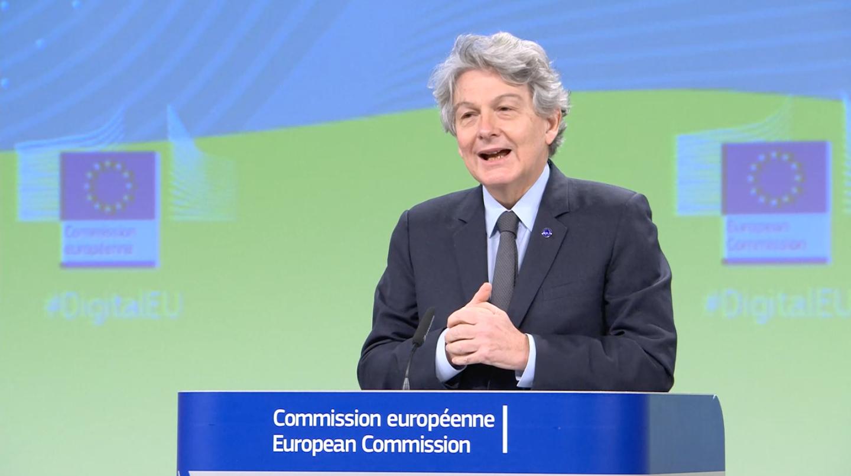 Thierry Breton, commissaire européen chargé du Marché intérieur et du Numérique