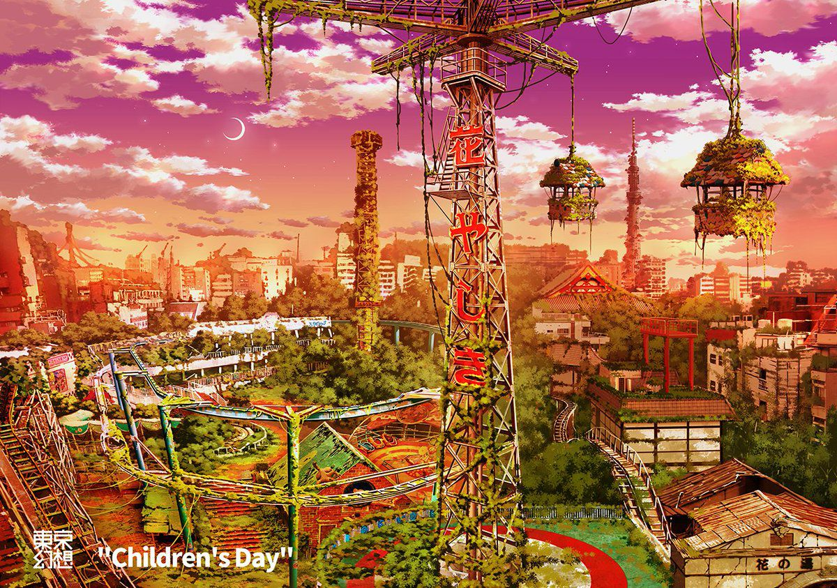 artworks tokyo post-apocalyptique hanayashiki