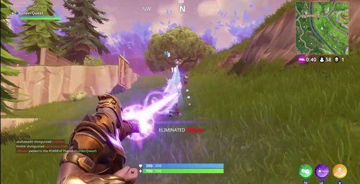 Thanos dans le jeu Fortnite
