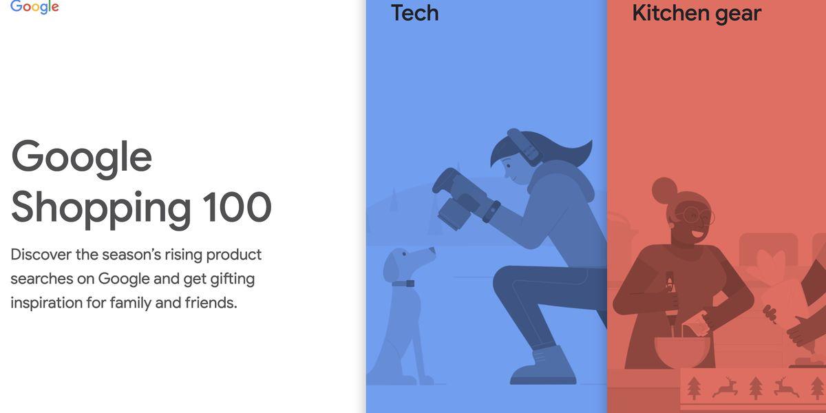 Google Shopping 100 : des inspirations de cadeaux en fonction produits les plus recherchés en cette fin d'année