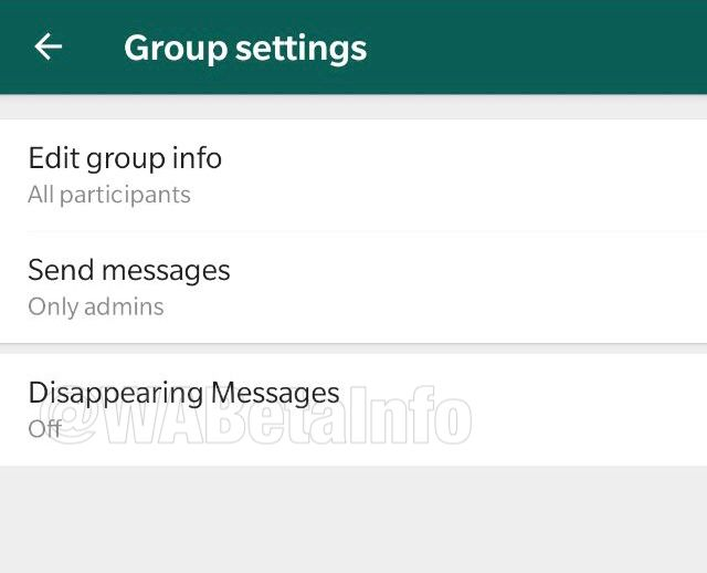 WhatsApp test auto-destruction message