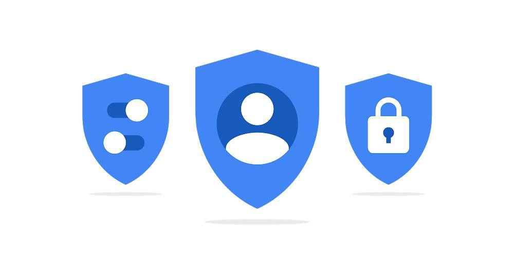 Trois illustrations côte à côte représentant la vie privée des utilisateurs.