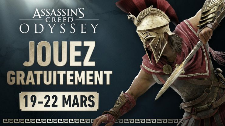 ubisoft assassin's creed odyssey confinement weekend essai gratuit mars 2020