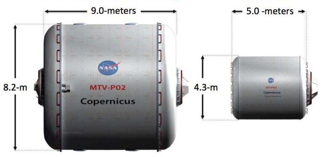 Comparaison de deux nacelles de vie pour Mars