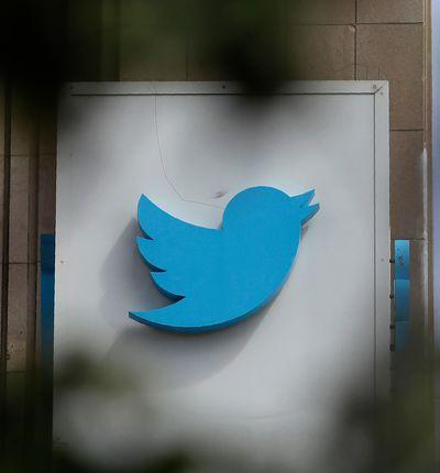 logo de twitter sur un mur