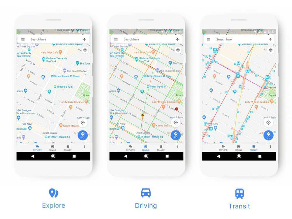 google maps design