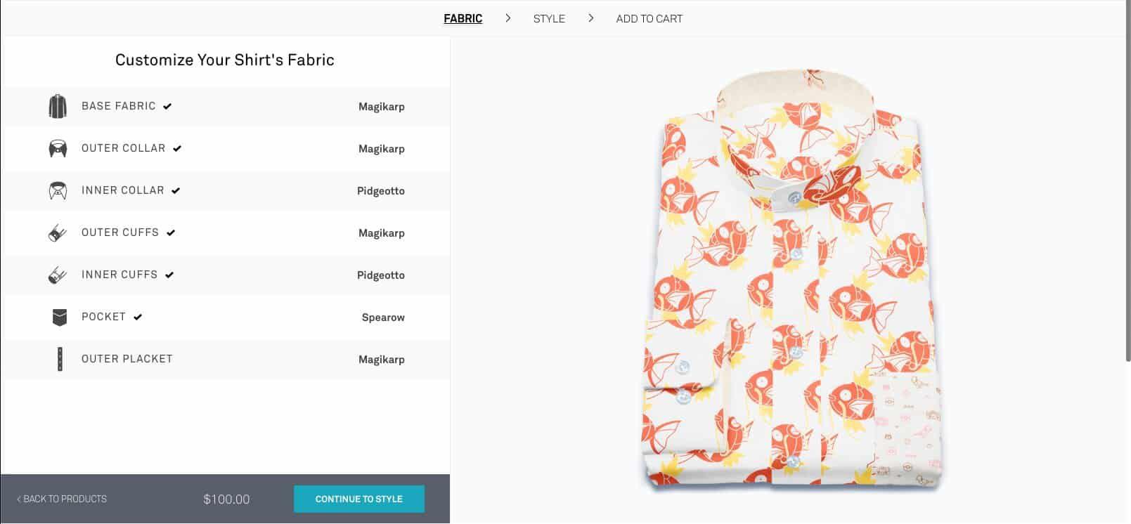 pokémon chemise officielle magicarpe