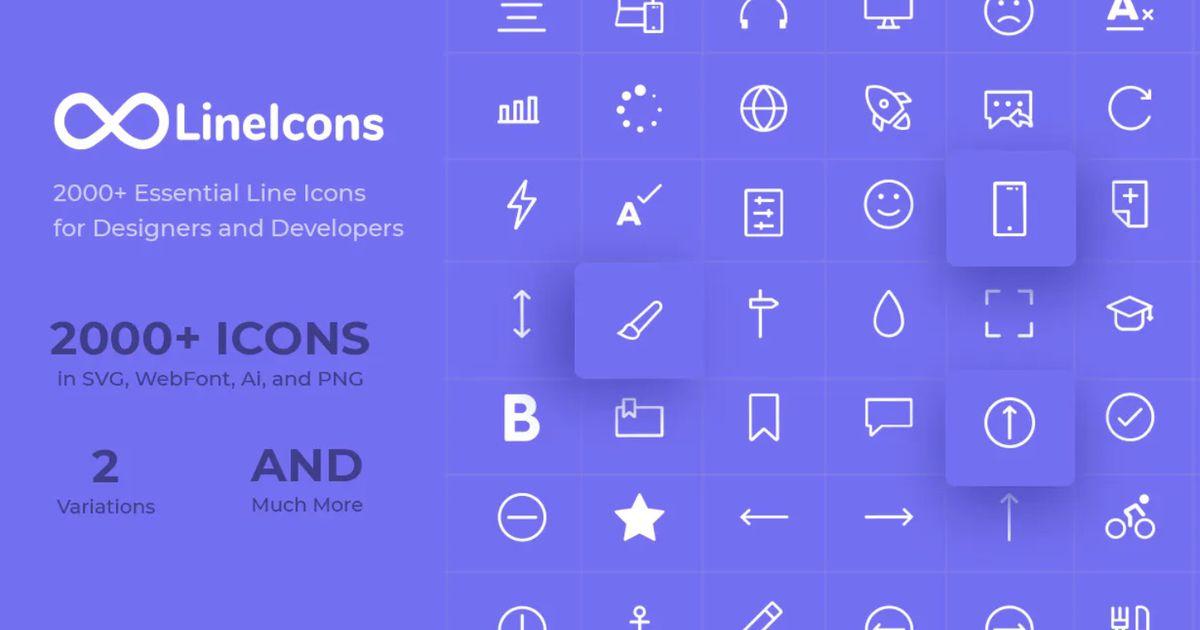 LineIcons : 2000 icônes gratuites pour les designers et développeurs