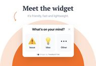 design du widget Feedback Fish