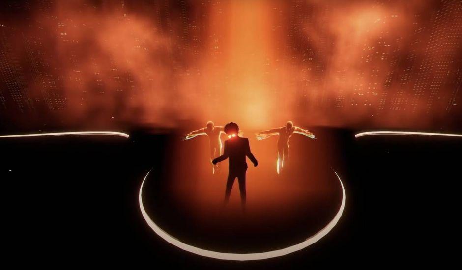Capture d'écran du concert de The Weeknd organisé sur TikTok.