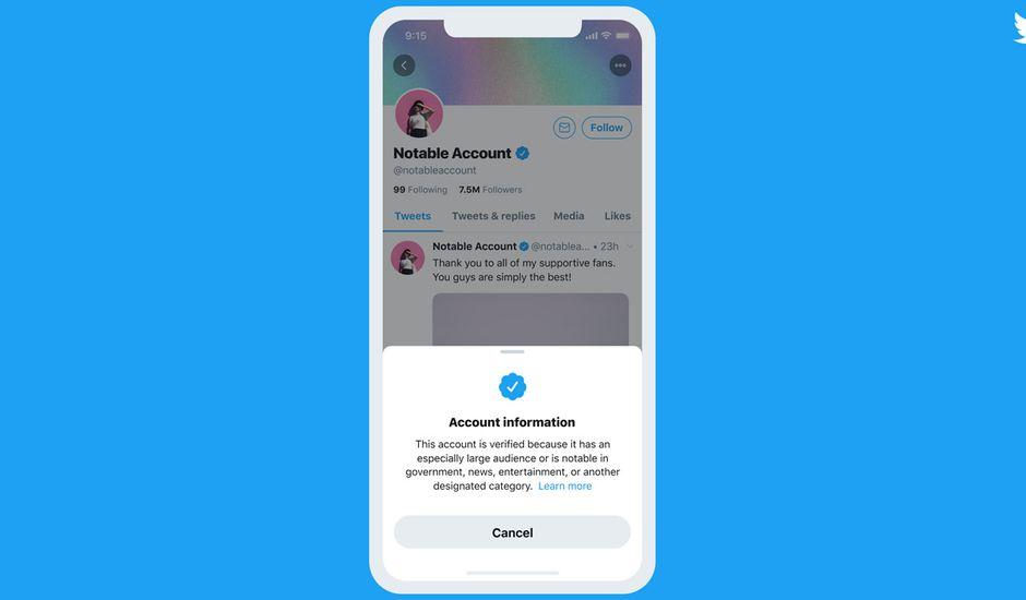 L'exemple des nouveaux comptes Twitter certifiés à partir de 2021.