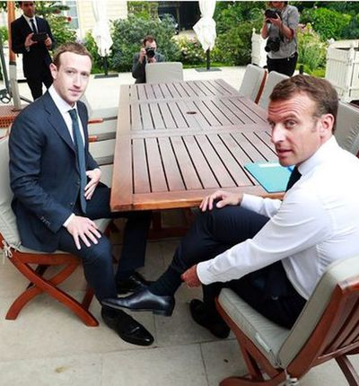 Zuckerberg Macron discussion