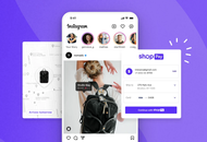 Illustration de l'utilisation de Shop Pay de Shopify dans Instagram