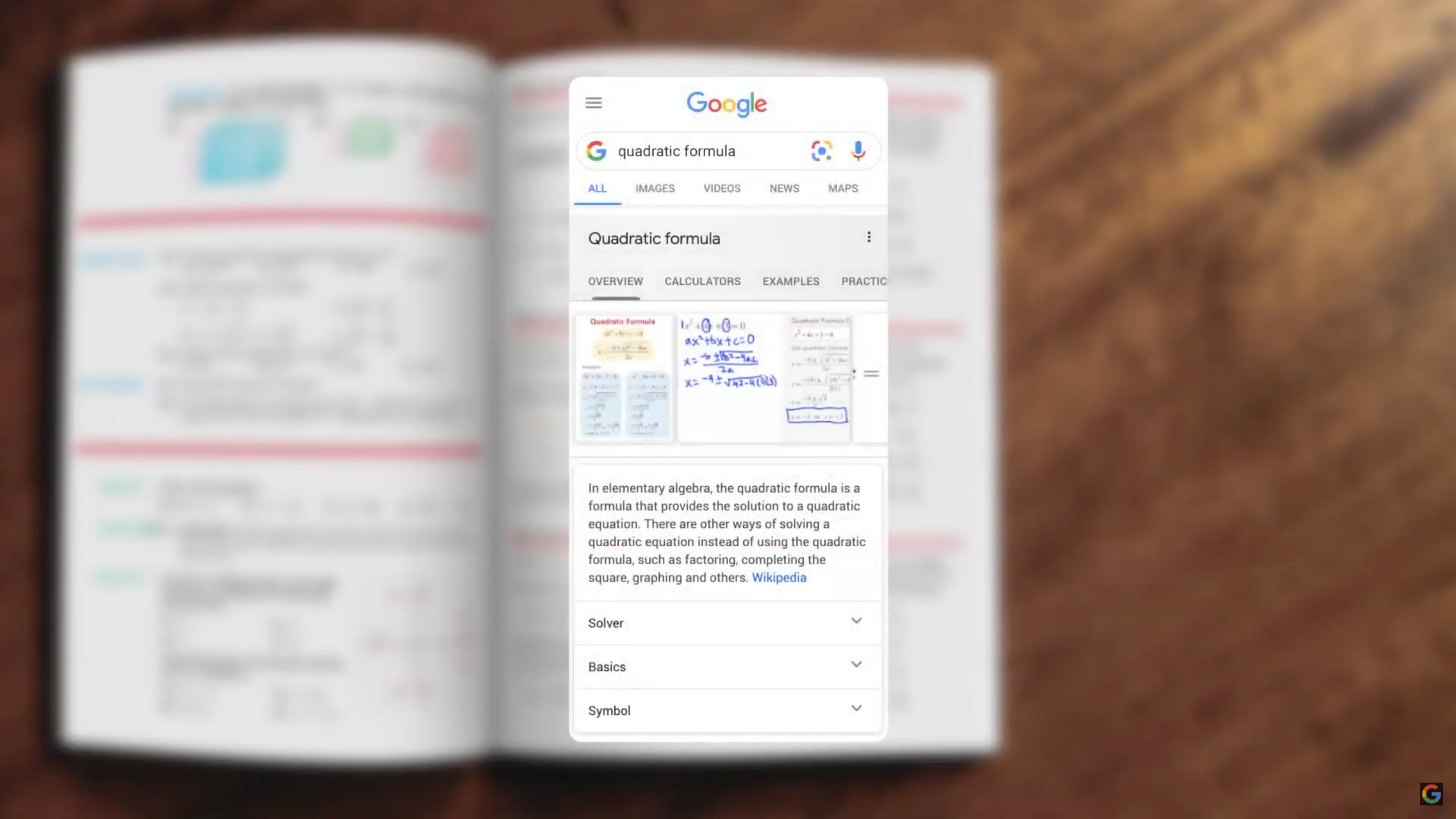 Démonstration de l'utilisation de Google Lens pour  résoudre un problème de mathématique
