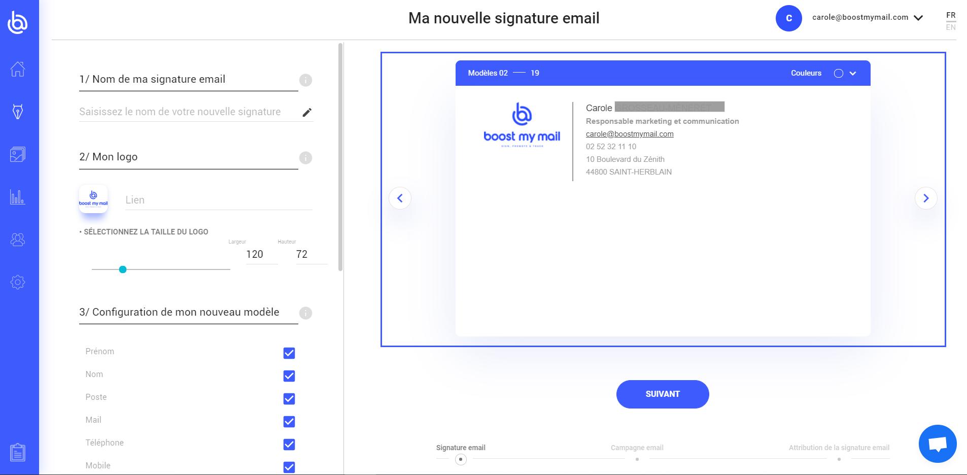 créer signature email personnalisée