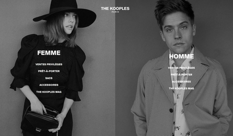 Visuel e-commerce The Kooples
