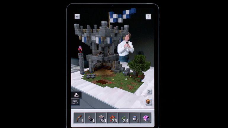 Minecraft en réalité augmentée grâce à ARKit 3 d'Apple présenté pendant la WWDC 2019.